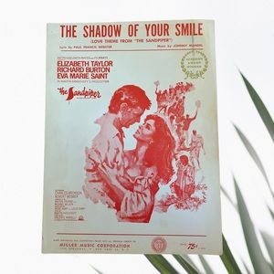 1965 The Shadow of Your Smile Sheet Music